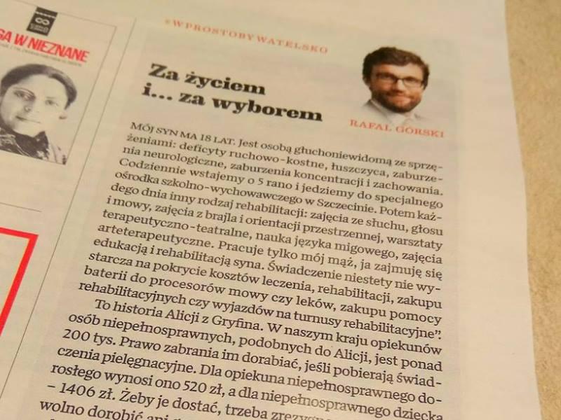 Rafał Górski Za życiem i... za wyborem