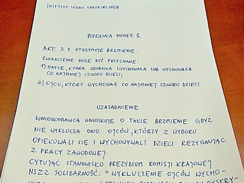 Uzasadnienie poprawki INSPRO